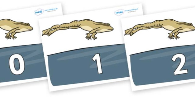 Numbers 0-100 on Frog - 0-100, foundation stage numeracy, Number recognition, Number flashcards, counting, number frieze, Display numbers, number posters