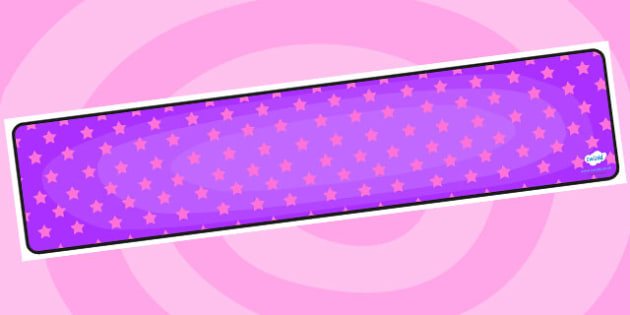 Purple with Pink Stars Editable Display Banner - purple, pink, display, banner, display banner, display header, themed banner, editable banner, editable