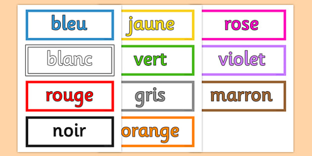 French Colours Vocabulary Cards - france, languages, EAL, colour