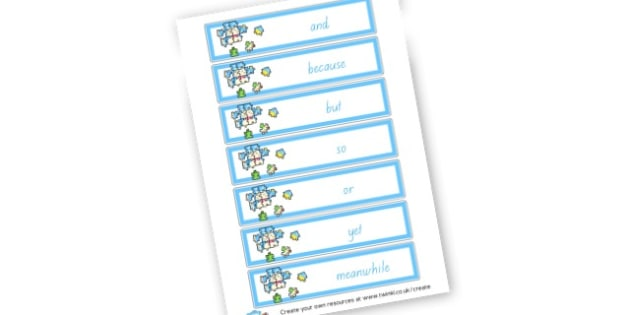 Connectives flashcards