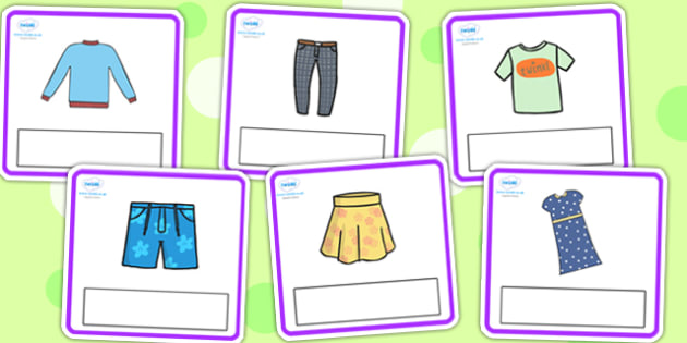 Editable Clothes Cards - clothes, clothes cards, editable cards, word cards, vocabulary cards, writing aid, writing prompt, discussion cards, display cards