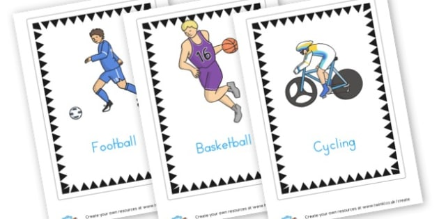 Sports Cards - PE & Sports, Literacy, PE and Sports Primary Resources, Sports, P