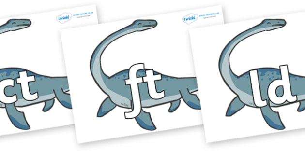 Final Letter Blends on Plesiosaur - Final Letters, final letter, letter blend, letter blends, consonant, consonants, digraph, trigraph, literacy, alphabet, letters, foundation stage literacy