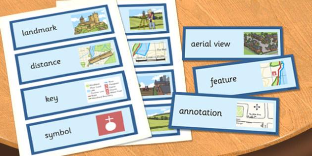 Land Use Word Cards - land use, word cards, word, cards, land