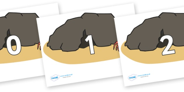 Numbers 0-100 on Caves - 0-100, foundation stage numeracy, Number recognition, Number flashcards, counting, number frieze, Display numbers, number posters