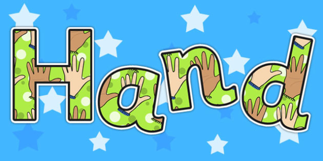 Hand Display Lettering - ourselves, all about me, body part, body