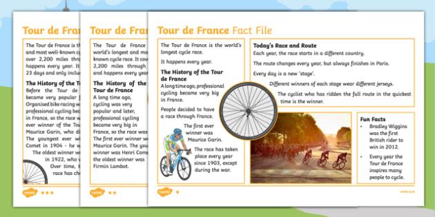 KS1 Tour de France Differentiated Fact File