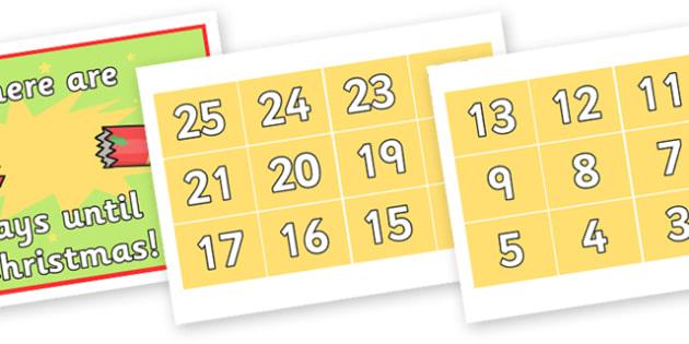 Christmas Themed Display Countdown - christmas, counting, display