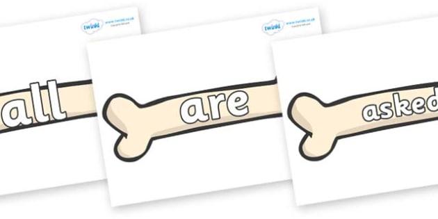 Tricky Words on Bones - Tricky words, DfES Letters and Sounds, Letters and sounds, display, words