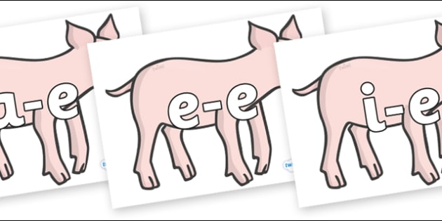 Modifying E Letters on Piglets - Modifying E, letters, modify, Phase 5, Phase five, alternative spellings for phonemes, DfES letters and Sounds