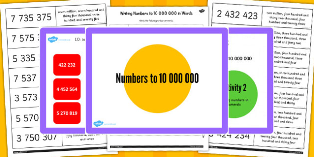 Year 6 Numbers to 1000000 Lesson 5 Teaching Pack - numeracy