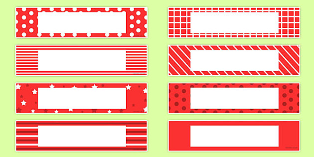 Gratnells Tray Labels Red - displays, labels, trays, gratnell