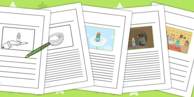 Thumbelina Story Writing Frames - stories, writing aid, write