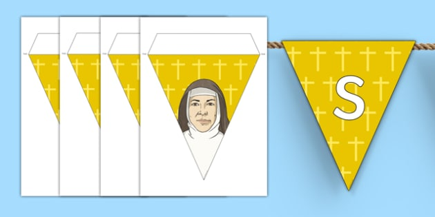 Saint Mary MacKillop Display Bunting-Australia
