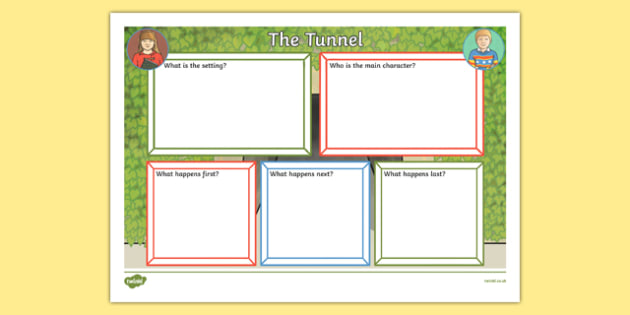 Book Review Writing Frame to Support Teaching on The Tunnel - the tunnel, book review, writing frame
