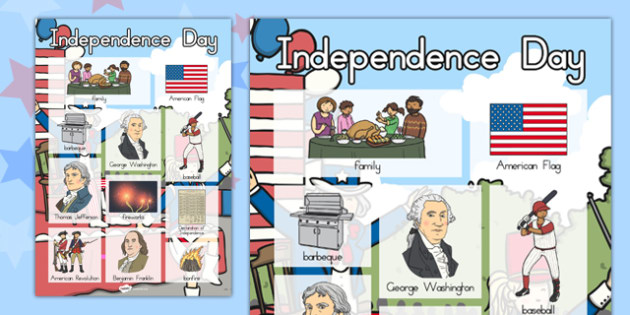 Independence Day Vocabulary Poster - independence day, vocabulary
