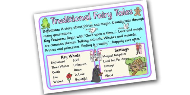 Story Genres Traditional Fairy Tale Display Poster - story genres, story genre posters, fairy tale poster, different genres, reading corner posters, ks2