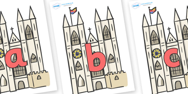 Phoneme Set on Cathedrals - Phoneme set, phonemes, phoneme, Letters and Sounds, DfES, display, Phase 1, Phase 2, Phase 3, Phase 5, Foundation, Literacy