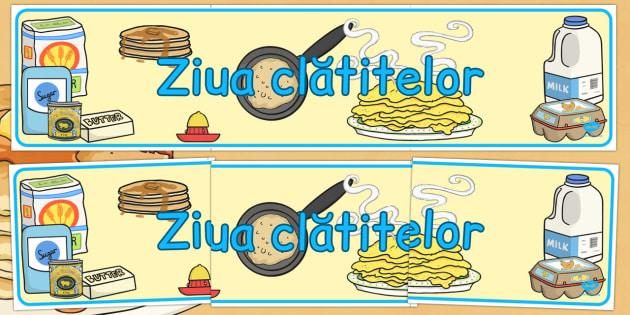 Ziua clatitelor, Banner - post, paste