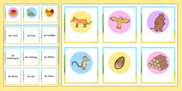 The Gruffalo Matching Cards