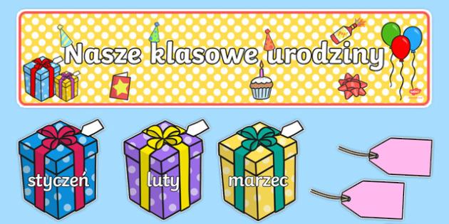 Zestaw Urodziny klasowe Prezenty po polsku