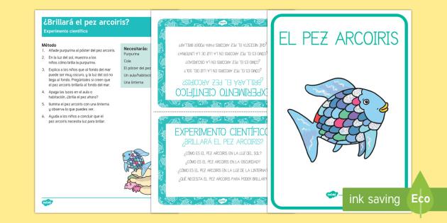 el pez arcoiris Experimentos científicos - packs de planificar