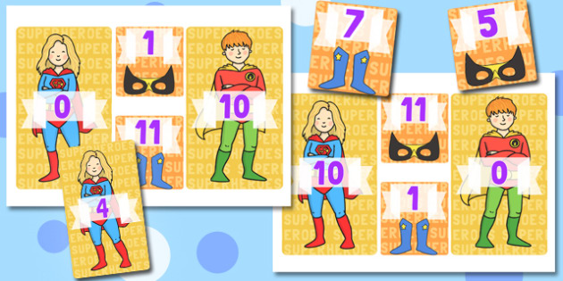 Superheroes KS1 Number Bonds to 11 - numeracy, numbers, bond
