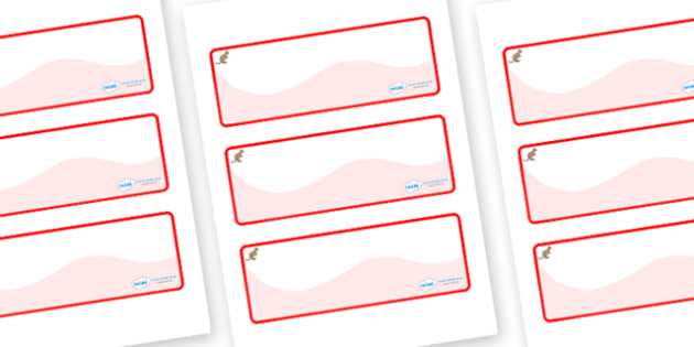 Kangaroo Themed Editable Drawer-Peg-Name Labels (Colourful) - Themed Classroom Label Templates, Resource Labels, Name Labels, Editable Labels, Drawer Labels, Coat Peg Labels, Peg Label, KS1 Labels, Foundation Labels, Foundation Stage Labels, Teaching
