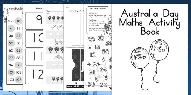 Australia Day Maths Activity Booklet - australia, activity, math