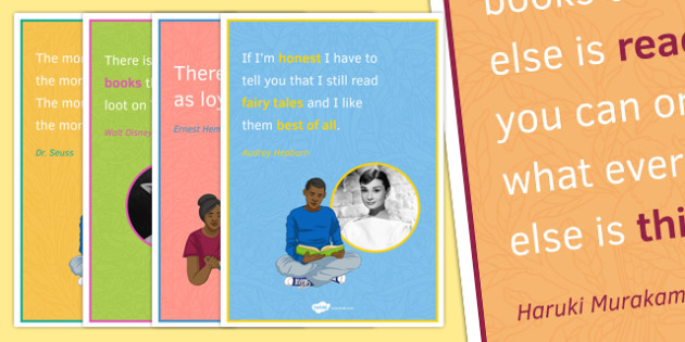 Reading Quote Posters for KS3 - reading quote, posters, display, ks3