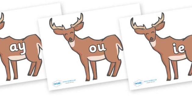 Phase 5 Phonemes on Deer - Phonemes, phoneme, Phase 5, Phase five, Foundation, Literacy, Letters and Sounds, DfES, display