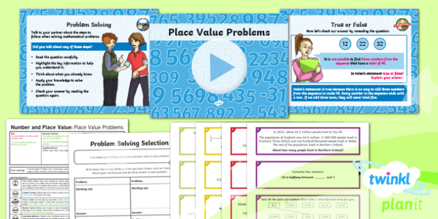 PlanIt Y6 Number and Place Value Lesson Pack - Number, Place Value, problem, reasoning, solving.