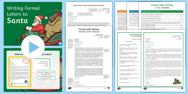 Formal Letter to Santa Example Text -  Formal Letter to Santa, Christmas, Xmas, genre, writing, character, Father Christmas, letter writin