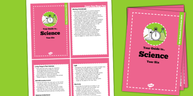2014 Curriculum Cards Year 6 Science - new curriculum, planning