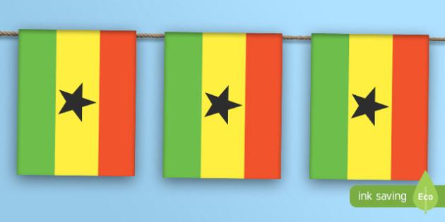 Ghana Flag Bunting - ghana flag, ghana, flag, bunting, display bunting, dispaly