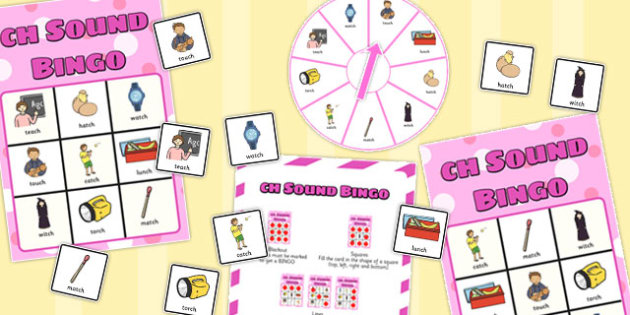 Final 'Ch' Sound Spinner Bingo - final ch, sound, spinner, bingo