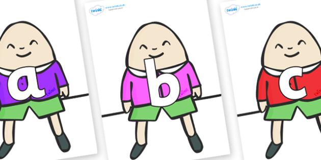 Phoneme Set on Humpty Dumpty - Phoneme set, phonemes, phoneme, Letters and Sounds, DfES, display, Phase 1, Phase 2, Phase 3, Phase 5, Foundation, Literacy