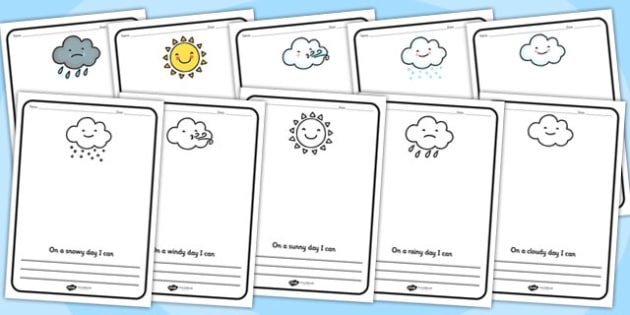 Weather Activity Writing Frames - weather, writing, writing frame