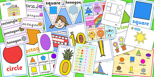 2D Shape Resource Pack - 2d, shapes, 2d shapes, numeracy, maths