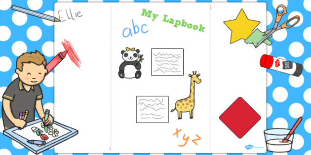 A3 Blank Lapbook Template - a3, lapbooks, blank, template, book