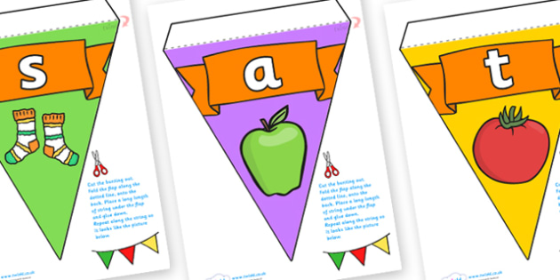 Phase 2 Display Bunting - phase 2, phase two, bunting, themed bunting, display bunting, bunting flags, flag bunting, cut out bunting, paper bunting, flags