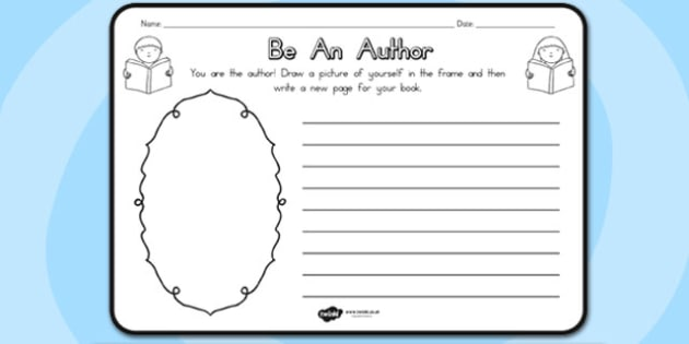 Be An Author Comprehension Worksheet - authors, worksheets