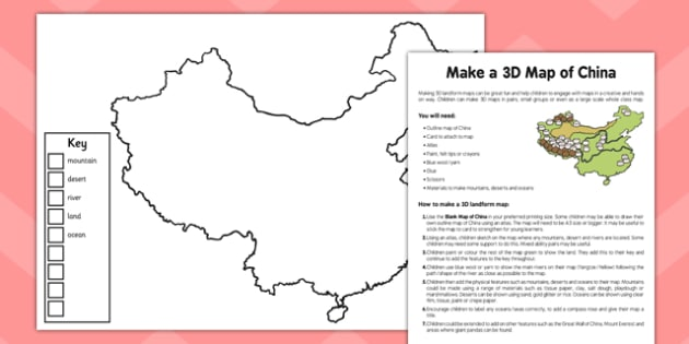 Make a 3D Map of China Adult Guidance - 3d, map, china, adult