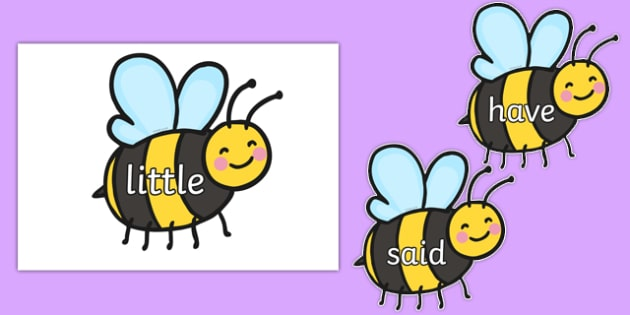 Phase 4 Tricky Words on Bees - phase 4, tricky words, bees, minibeast