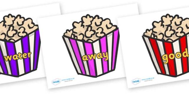 Next 200 Common Words on Popcorn - Next 200 Common Words on  - DfES Letters and Sounds, Letters and Sounds, Letters and sounds words, Common words, 200 common words