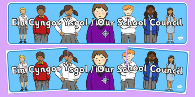 Our School Council Display Banner Bilingual - welsh, cymraeg, Our School Council, Display Banner, Welsh Display Resources