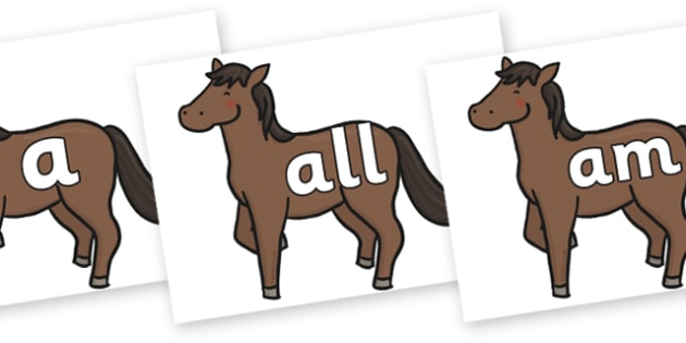 Foundation Stage 2 Keywords on Chinese New Year Horse - FS2, CLL, keywords, Communication language and literacy,  Display, Key words, high frequency words, foundation stage literacy, DfES Letters and Sounds, Letters and Sounds, spelling