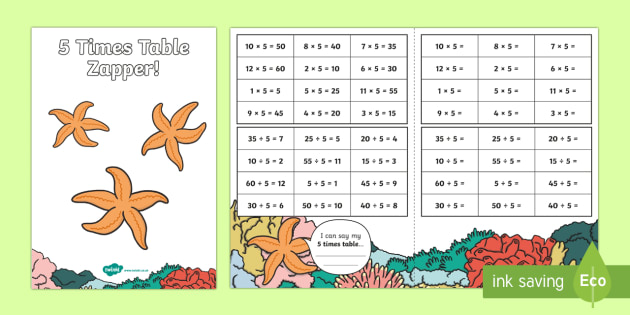 5 Times Table with Division Zapper