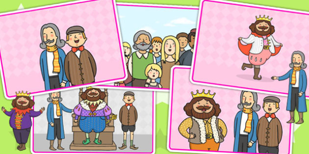 The Emperors New Clothes Story Sequencing - story books, sequence