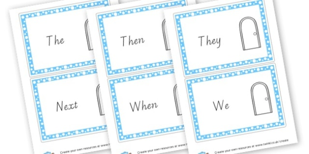 Openers for VCOP Word Cards - VCOP Primary Resources, Vocabulary, Connectives, Openers